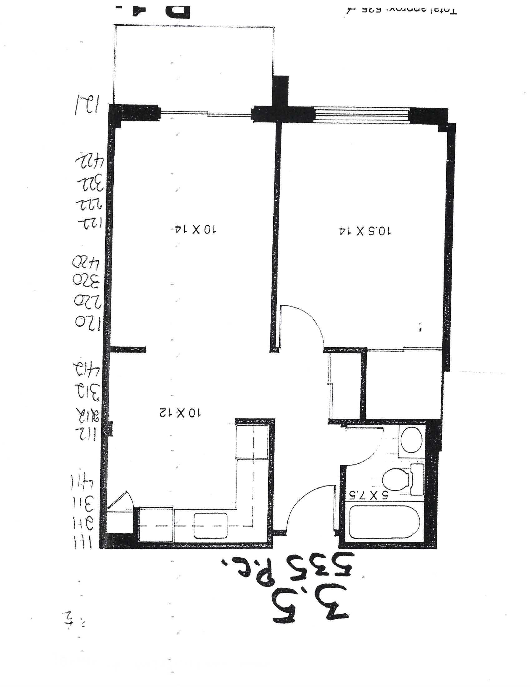 Appartement 1 Chambre a louer à Pointe-aux-Trembles a Habitations de la Rousseliere - Plan 01 - PagesDesLocataires – L1921