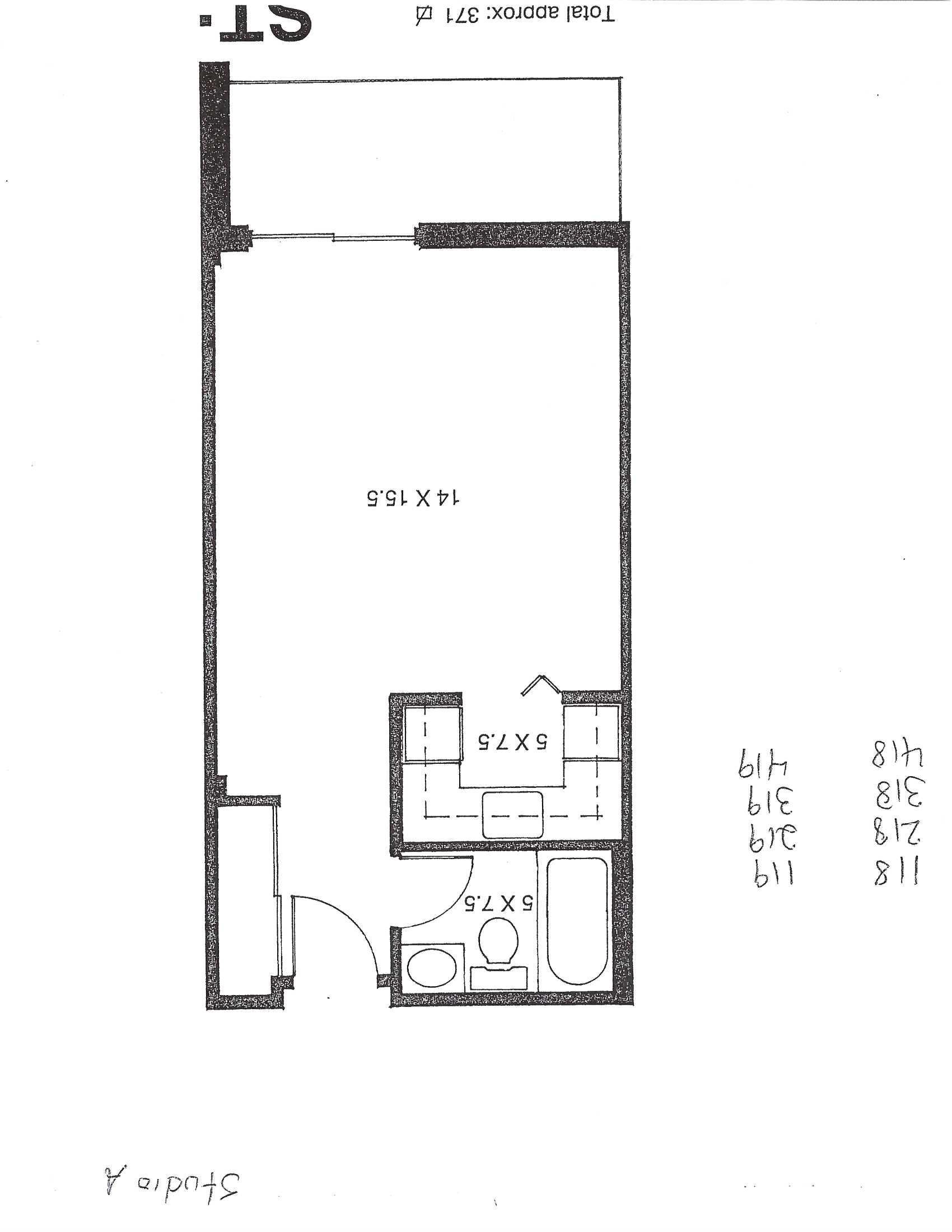 Appartement Studio / Bachelor a louer à Pointe-aux-Trembles a Habitations de la Rousseliere - Plan 01 - PagesDesLocataires – L1920