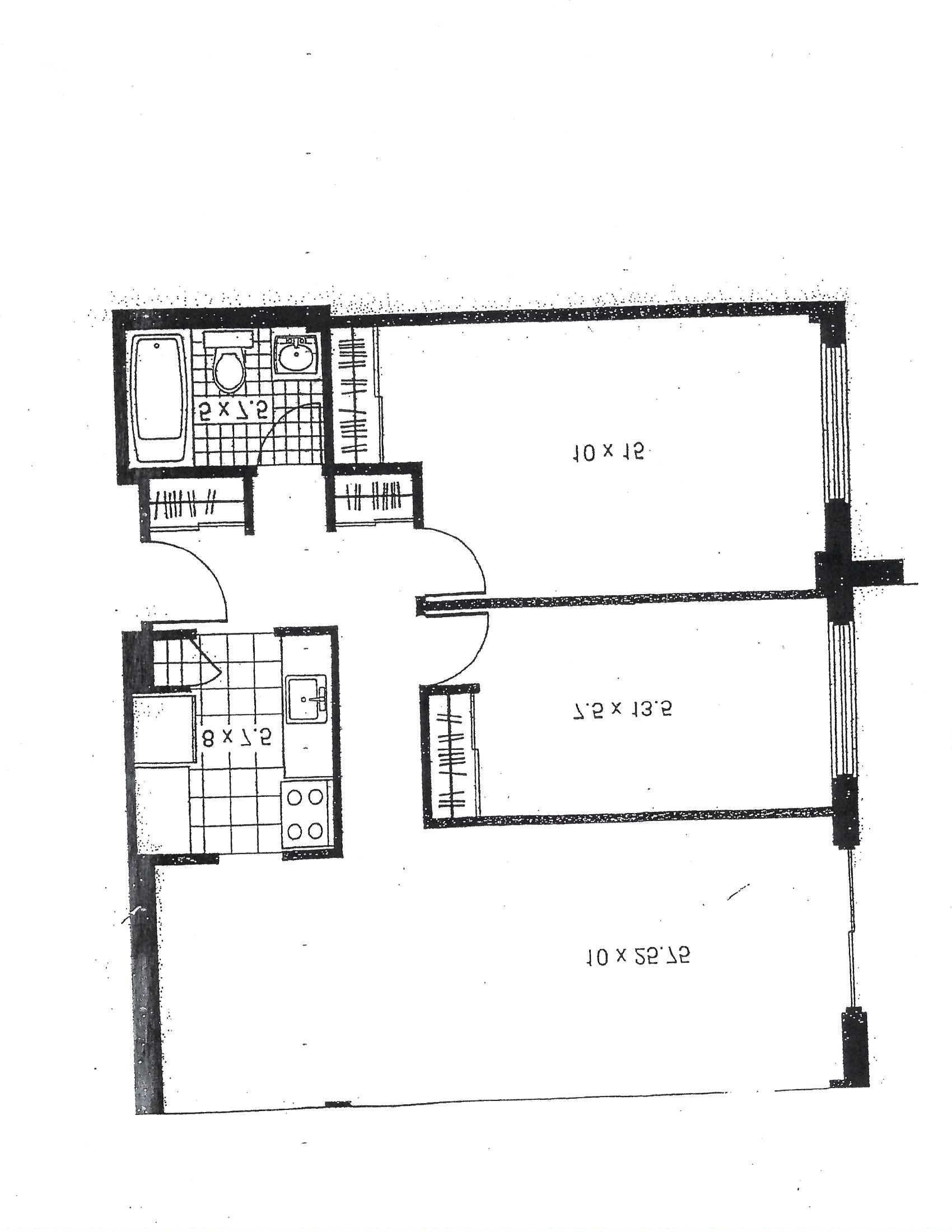 Appartement 2 Chambres a louer à Pointe-aux-Trembles a Habitations de la Rousseliere - Plan 01 - PagesDesLocataires – L1922