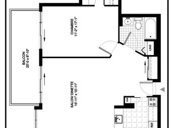 Maison de retraite pour personnes âgées autonomes 1 Chambre a louer à Outremont a Manoir Outremont - Plan 01 - PagesDesLocataires – L19531