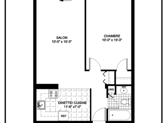 Maison de retraite pour personnes âgées semi-autonomes 1 Chambre a louer à Montreal-Nord a Residences Du Confort - Plan 01 - PagesDesLocataires – L19537