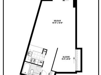 Maison de retraite pour personnes âgées autonomes Studio / Bachelor a louer à Outremont a Manoir Outremont - Plan 01 - PagesDesLocataires – L19530