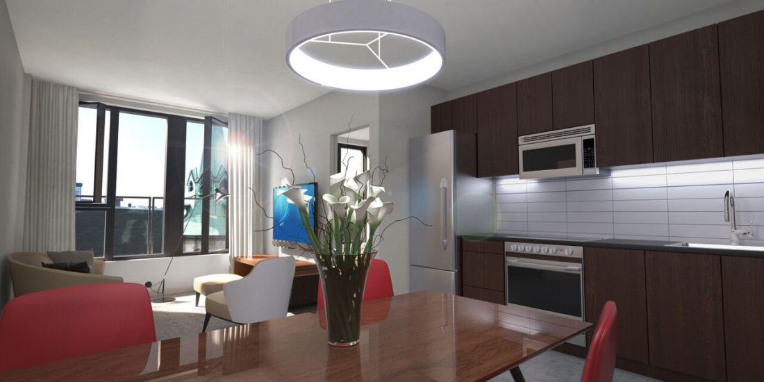 Condo 2 Chambres de luxe a louer à Montréal (Centre-Ville) a 1255 de Bullion - Photo 04 - PagesDesLocataires – L119809